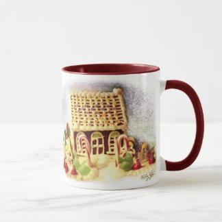 Happy Holidays Gingerbread House Mug
