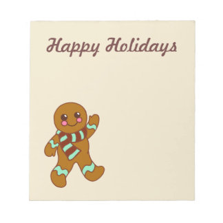 Happy Holidays Gingerbread Notepad