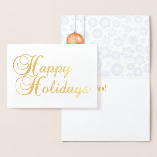 Happy Holidays Gold Foil Foil Card