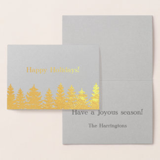 Happy Holidays! | Gold Foil | You Customize Foil Card