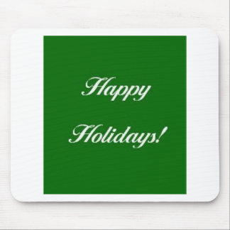 Happy_Holidays_Green Mousepads