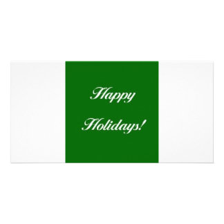 Happy_Holidays_Green Personalized Photo Card