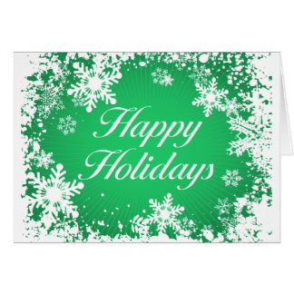 Happy Holidays Green (snowflakes) Greeting Card