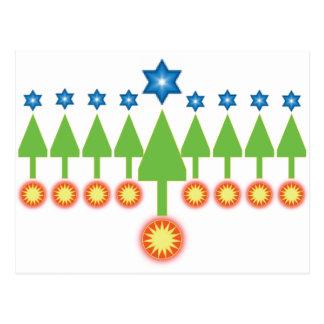 Happy Holidays Greeting Card - Christmas Hanukkah