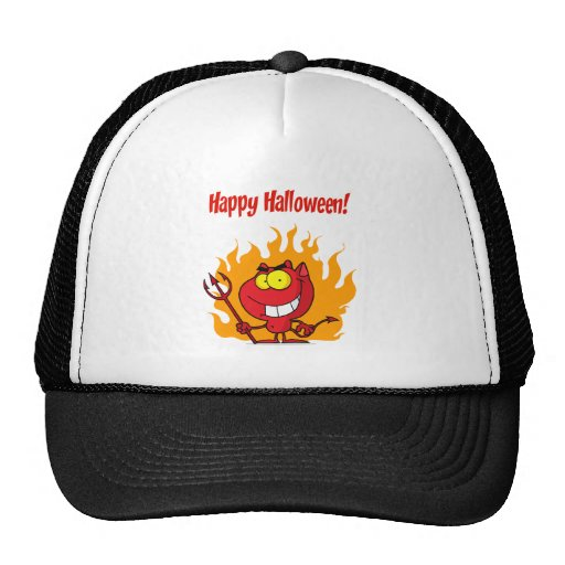 Happy Holidays Greeting With Halloween Devil Hat