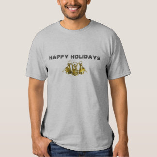 HAPPY HOLIDAYS GREY T-SHIRT - Cu... - Customized