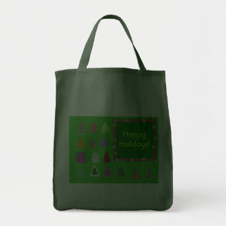 Happy Holidays! Grocery Tote Bag