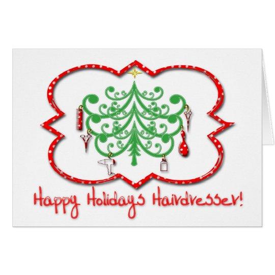 Happy Holidays Hairdresser Card