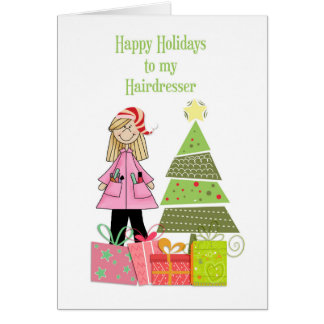 Happy Holidays, Hairdresser Greeting Card