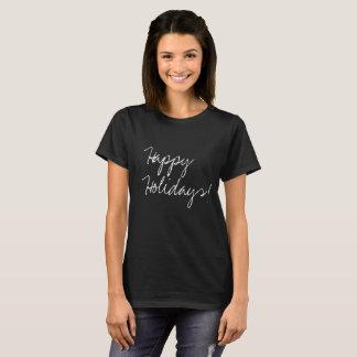 Happy Holidays! Handlettering Type, Modern T-Shirt