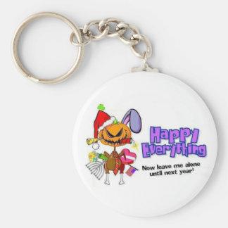Happy Holidays-Happy Anything-Happy Everything Basic Round Button Key Ring
