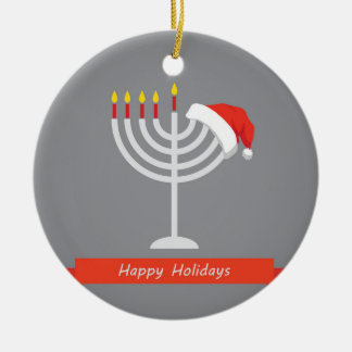 Happy Holidays, Happy Holidays And Happy Round Ceramic Decoration