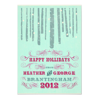 Happy Holidays Holiday Card 13 Cm X 18 Cm Invitation Card