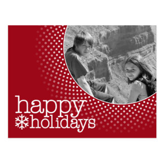 Happy Holidays - Holiday Photo Postcard