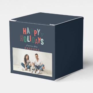 HAPPY HOLIDAYS (IMAGE) FAVOUR BOX