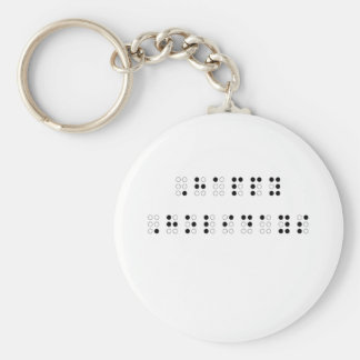 Happy Holidays in Braille Key Ring