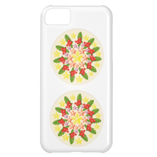 Happy Holidays Jewel Collection iPhone 5C Case