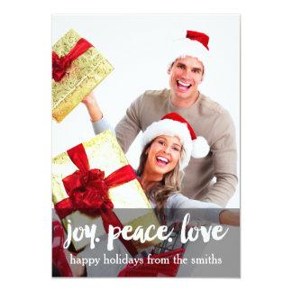 Happy Holidays - Joy. Peace. Love. Holiday Card