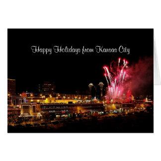 Happy Holidays Kansas City Plaza Fireworks, Lights Card