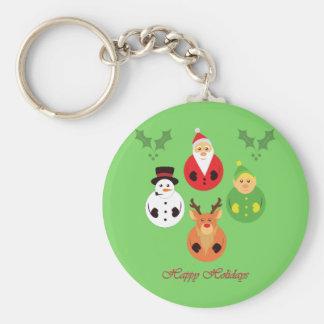 Happy Holidays! Key Ring