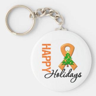 Happy Holidays Kidney Cancer Awareness Key Chain