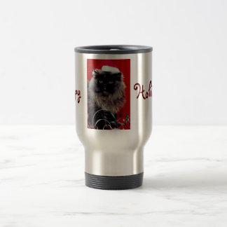 Happy Holidays Kitty Cat Coffee Mug