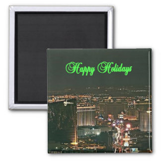 Happy Holidays Las Vegas Christmas Stocking Magnet