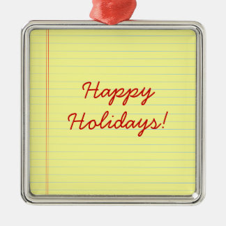 Happy Holidays legal pad Christmas Ornament