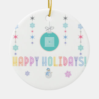 Happy Holidays LLR Lularoe inspired 2 Christmas Ornament