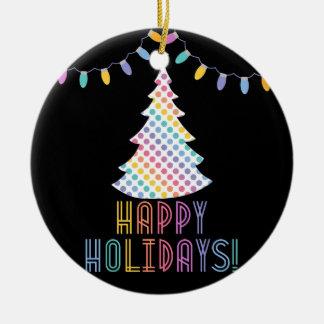 Happy Holidays LLR Lularoe inspired Christmas Ornament