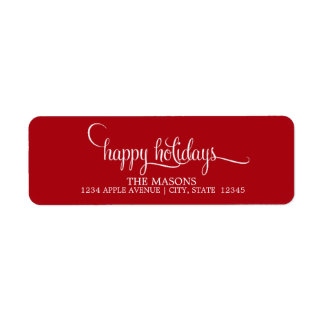 Happy Holidays Lowercase Script | Red