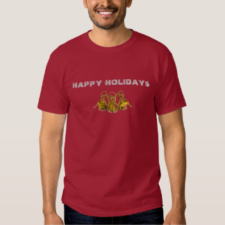 HAPPY HOLIDAYS MAROON T-SHIRT - Customized