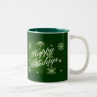 Happy Holidays Matching Items - Green Mugs