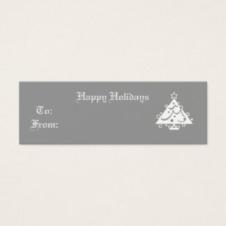 Happy Holidays Mini Business Card