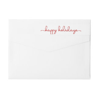 Happy Holidays Modern Hand Lettered Wrap Label