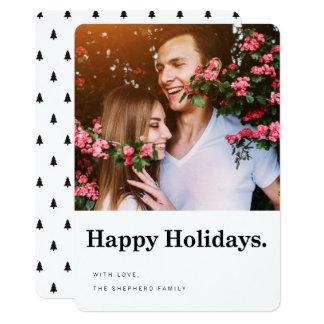 Happy Holidays Modern Holiday Photo Card