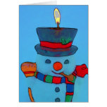 Happy Holidays Mr. Snowman Greeting Card