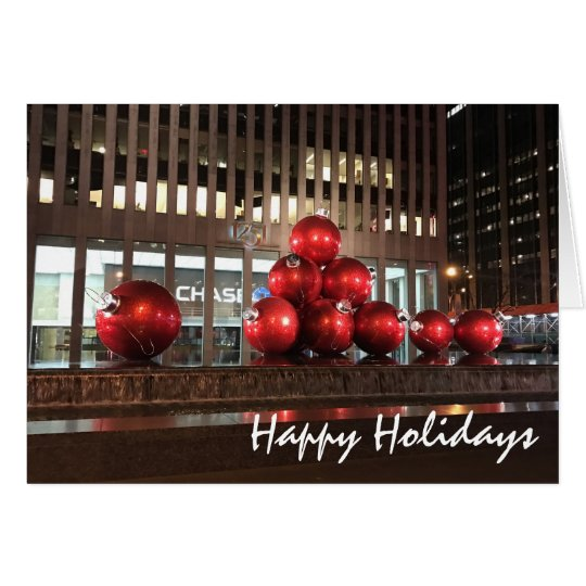 Happy Holidays New York City NYC Christmas Photo