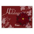 Happy Holidays Niece Christmas Poinsettia card