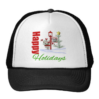 Happy Holidays North Pole Trucker Hat