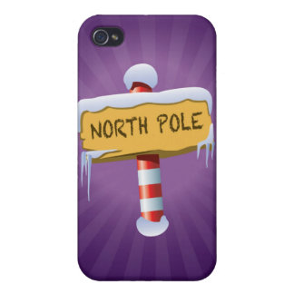 Happy Holidays North Pole iPhone 4 Cases