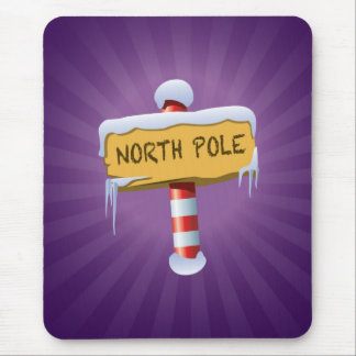 Happy Holidays North Pole Mouse Pad