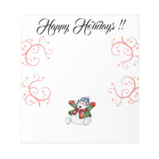 Happy Holidays Note Pad