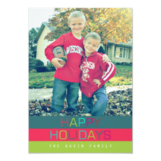 Happy Holidays - Oh what fun | 5x7 Card