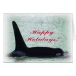 Happy Holidays: Orca Whale Happy Holidays San Juan Cards