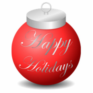 Happy Holidays Ornament Photo Cut Outs