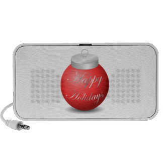 Happy Holidays Ornament iPhone Speaker