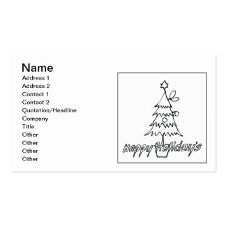 Happy Holidays Pack Of Standard Business Cards