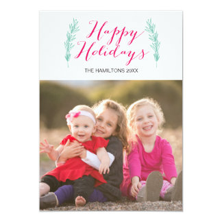 Happy Holidays Paper Photo Card 13 Cm X 18 Cm Invitation Card