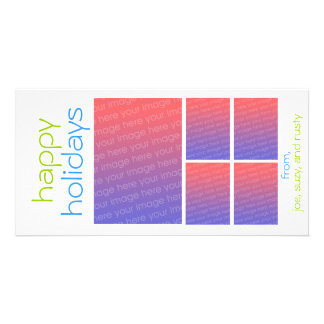 happy holidays personalized photo card